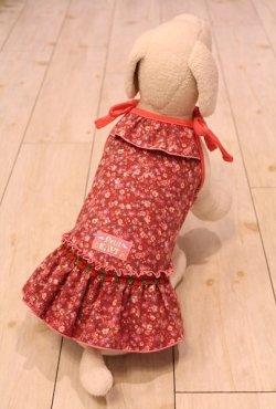 画像2: ネルの小花柄キャミワンピ(ピンク)・0号