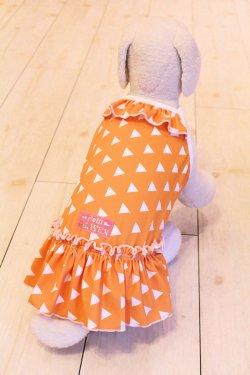 画像4: ツーウェイ☆鱗文様ワンピ(オレンジ)・3号